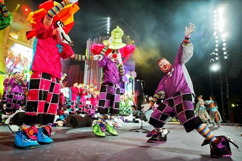 Presentación Murga los Chancletas carnaval 2017.