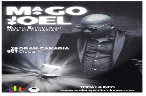 Joel Armando más conocido mundialmente como el MAGO JOEL arranca en nuestro escenario su nueva gira por España.