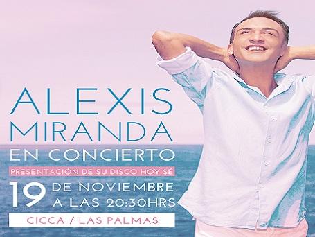 Alexis Miranda, en concierto en el CICCA