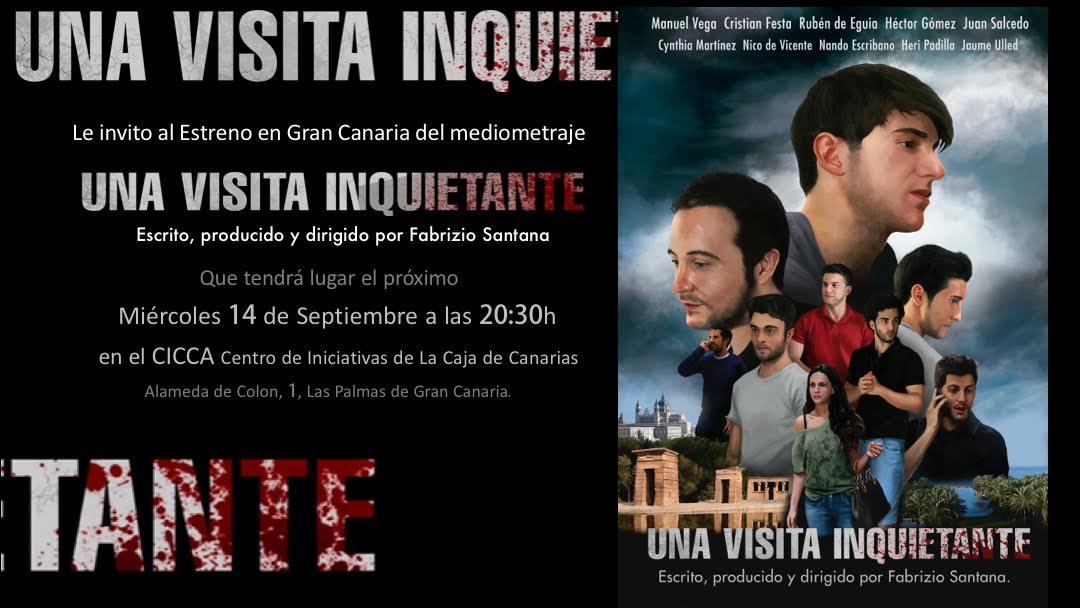 Una Visita Inquietante de Fabrizio Santana, se proyectará en el CICCA el 14 de Septiembre