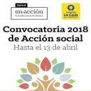 CONCURSO DE AYUDAS ACCIÓN SOCIAL 2018 FUNDACIÓN LA CAJA / BANKIA.