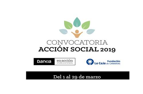 CONCURSO DE AYUDAS ACCIÓN SOCIAL 2019 FUNDACIÓN LA CAJA / BANKIA.
