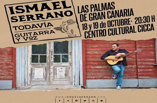 Doble sesión del gran Ismael Serrano en el CICCA