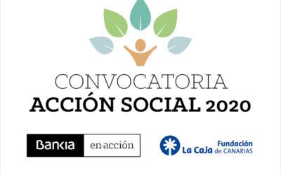 CONCURSO DE AYUDAS ACCIÓN SOCIAL 2020 FUNDACIÓN LA CAJA / BANKIA.