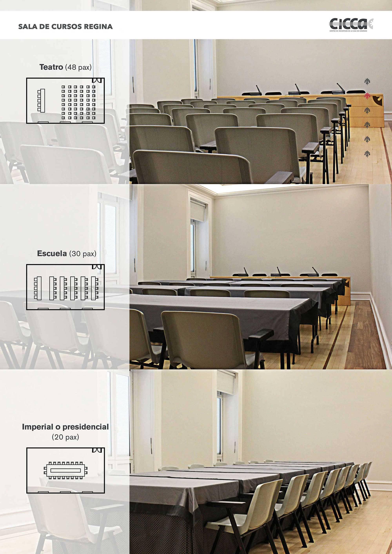 Sala de cursos Regina