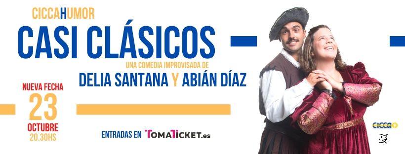 """Nuevas fechas para  """"CASI CLÁSICOS, con Delia Santana y Abián Díaz""""  en el CICCA"""
