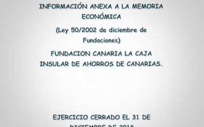 Información Anexa a la memoria Económica