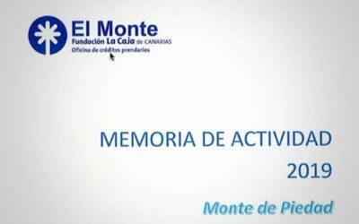 Memoria del Monte de Piedad
