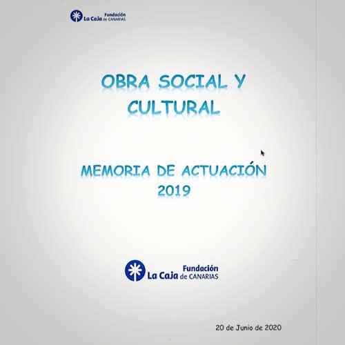 Memoria de la Obra Social y Cultural
