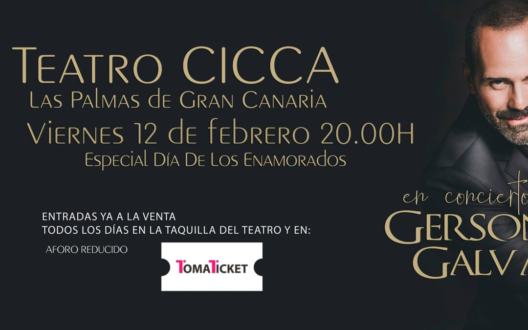 """Gersón Galván vuelve al CICCA con un especial """"Día de los enamorados"""""""
