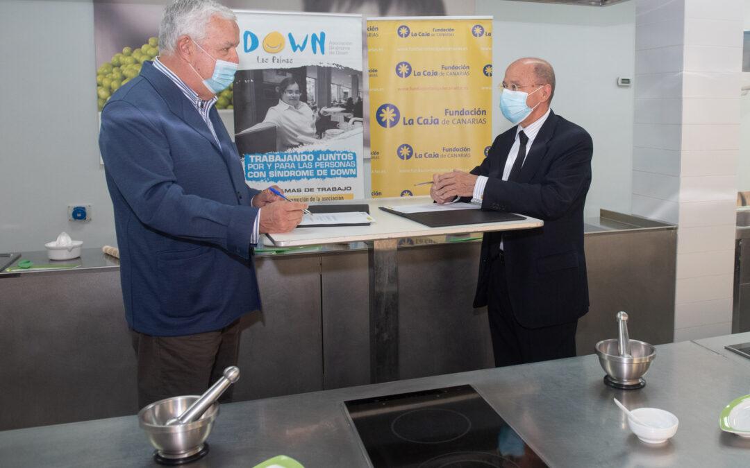 La Fundación La Caja de Canarias cede su Aula de Cocina para formar a personas con síndrome de Down