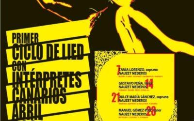 Primer Ciclo de Lied con interpretes canarios. En Abril, en el CICCA