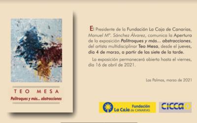 """Exposición """"Palitroques y más…abstracciones"""" del artista Teo Mesa (SE PROLONGA HASTA EL 23 DE ABRIL)"""
