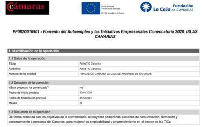 Activa TIC Canarias convocatoria 2020