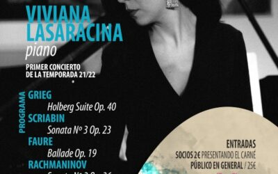 Sociedad Filarmónica LPGC presenta el recital de la pianista Viviana Lasaracina